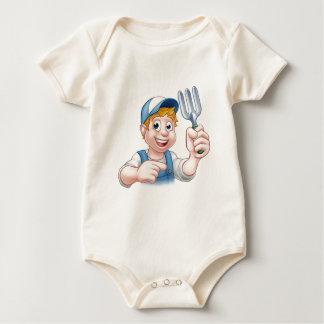 Body Para Bebê Personagem de desenho animado do jardineiro