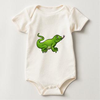 Body Para Bebê Personagem de desenho animado do lagarto de dragão