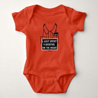 Body Para Bebê Personalizado eu apenas passei 9 meses no interior