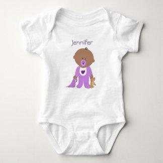 Body Para Bebê Personalizado um T da parte com nome do seu bebê