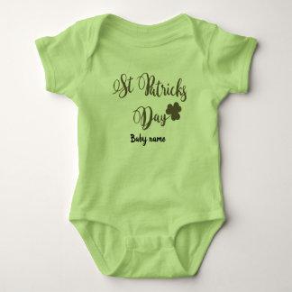 Body Para Bebê Personalize o bodysuit do Dia de São Patrício
