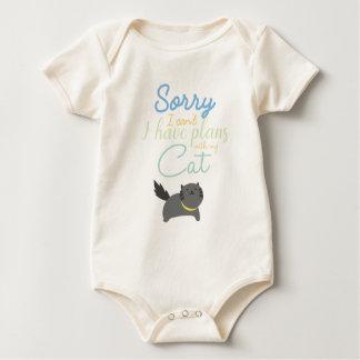 Body Para Bebê Pesaroso eu chanfro-me fiz planos com meu gato