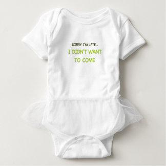 Body Para Bebê Pesaroso eu estou atrasado