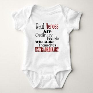 Body Para Bebê Pessoas extraordinárias dos heróis reais