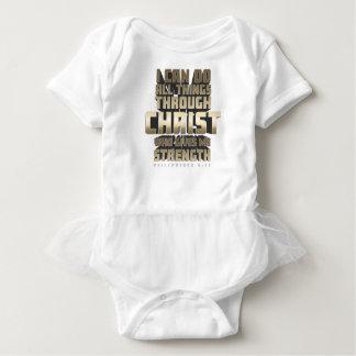 Body Para Bebê Phil4: 13 eu posso fazer todas as coisas com o