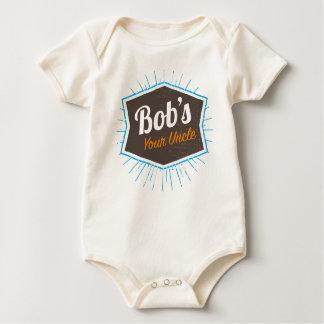 Body Para Bebê Piada do tio Engraçado Homem Named Bob de Bob sua