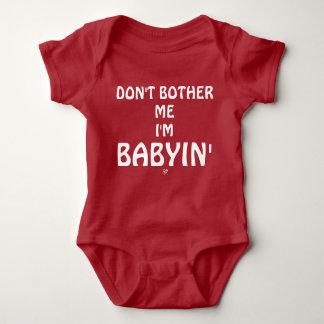 Body Para Bebê Piada sobre as birras dos bebês
