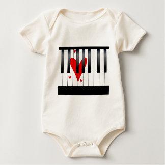 Body Para Bebê Piano do amor