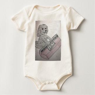 Body Para Bebê piano do filhote de cachorro