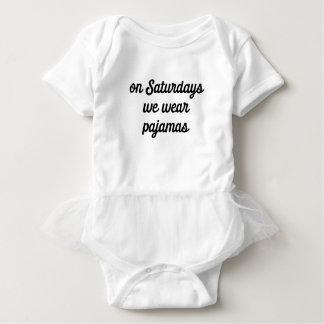 Body Para Bebê Pijamas de sábado