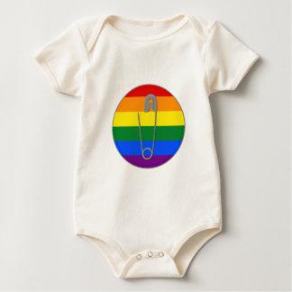 Body Para Bebê Pin de segurança dos direitos dos homossexuais