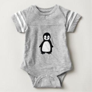 Body Para Bebê Pinguin preto e branco simples