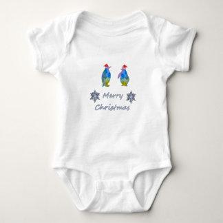 Body Para Bebê Pinguins do Natal