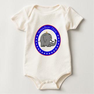 Body Para Bebê pintinho republicano