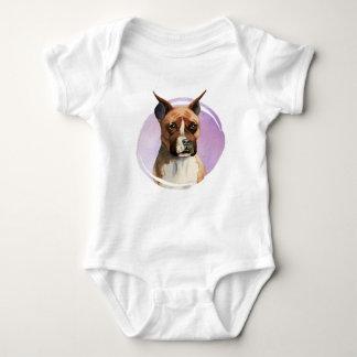 Body Para Bebê Pintura da aguarela do cão do pugilista