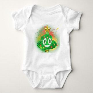 Body Para Bebê Pintura pistola da árvore de Natal de Emoji