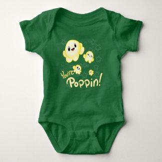 Body Para Bebê Pipoca de Poppin