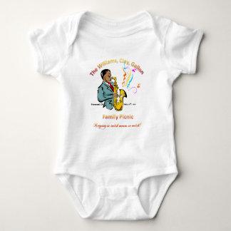 Body Para Bebê Piquenique da família de Williams - Creeper