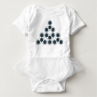 Body Para Bebê Pirâmide do girador da inquietação