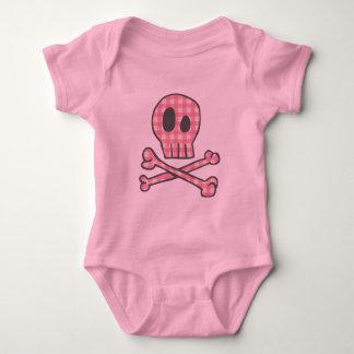 Body Para Bebê Pirata cor-de-rosa do guingão