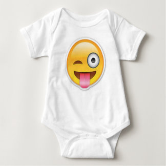 Body Para Bebê Piscar os olhos insolente do emoji do smiley