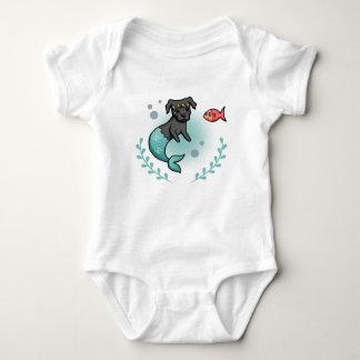 Body Para Bebê Pitbull da sereia
