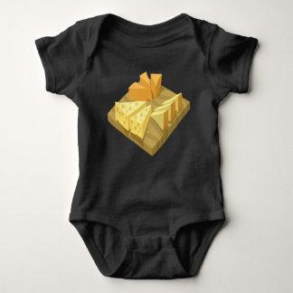 Body Para Bebê Placa de queijo da comida do pulso aleatório
