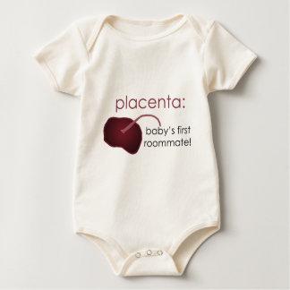 Body Para Bebê placenta, o primeiro companheiro de quarto do bebê