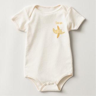 Body Para Bebê Plano Aviador-Amarelo do bebê