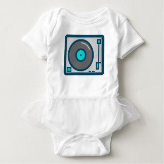 Body Para Bebê Plataforma giratória do DJ