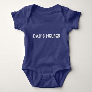Body Para Bebê Playsuit do ajudante dos pais