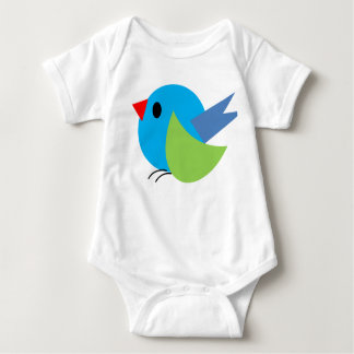 Body Para Bebê Pnha um Bodysuit do bebê do pássaro sobre dentro -