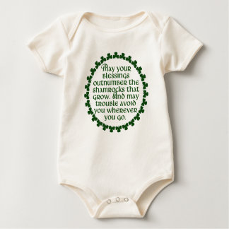 Body Para Bebê Podem suas bênçãos ultrapassar os trevos, irlandês