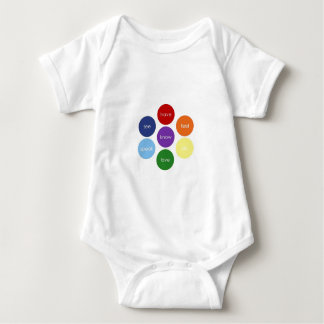 Body Para Bebê Poderes super de Chakra