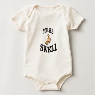 Body Para Bebê polegar do inchamento do divertimento