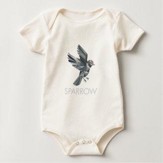 Body Para Bebê Polígono do texto do pardal baixo