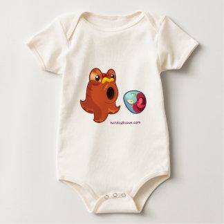 Body Para Bebê Polvo do Hotdog de Hotdogtopus com ketchup &
