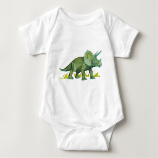 Body Para Bebê polygon art triangle graphic triceratops