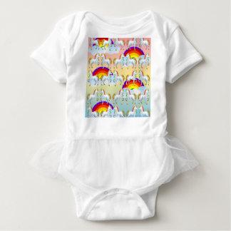 Body Para Bebê Pônei do arco-íris