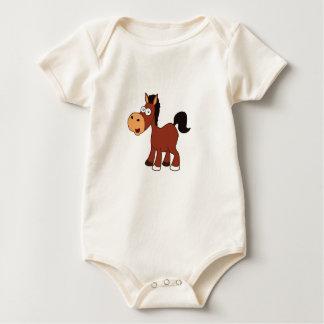 Body Para Bebê pônei vermelho do cavalo