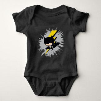 Body Para Bebê Pontapé do relâmpago de Chibi Batman