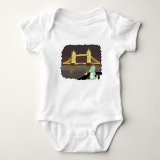 Body Para Bebê Ponte de Lonson, ilustração bonito dos animais
