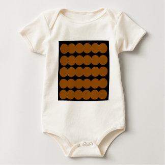 Body Para Bebê Pontos marrons MARROM E PRETO de Ethno. Projeto