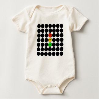 Body Para Bebê Pontos pretos de w do sinal de trânsito