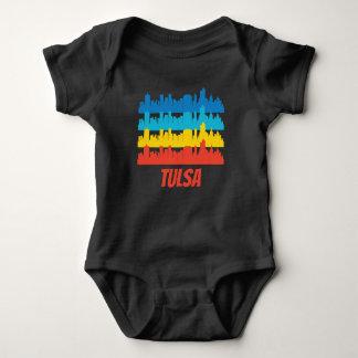 Body Para Bebê Pop art APROVADO retro da skyline de Tulsa