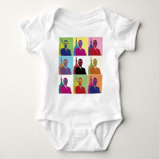 Body Para Bebê Pop art do presidente Obama