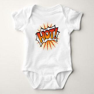 Body Para Bebê Pop art QUENTE! Design de texto