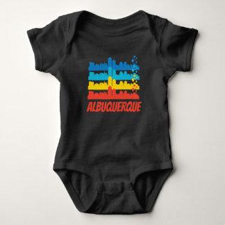 Body Para Bebê Pop art retro da skyline de Albuquerque nanômetro