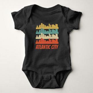 Body Para Bebê Pop art retro da skyline de Atlantic City NJ