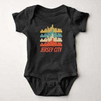 Body Para Bebê Pop art retro da skyline de Jersey City NJ